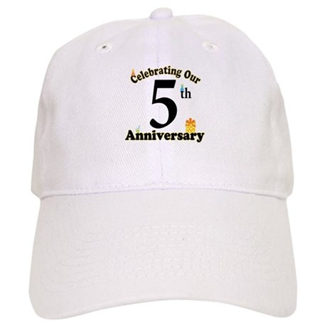 5th Anniversary Party Gift Cap