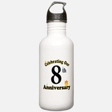 8th Anniversary Party Gift Water Bottle