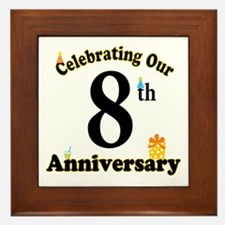 8th Anniversary Party Gift Framed Tile