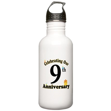 9th Anniversary Party Gift Stainless Water Bottle