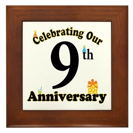 9th Anniversary Party Gift Framed Tile