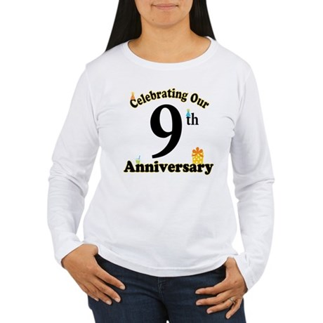 9th Anniversary Party Gift Women's Long Sleeve T-S