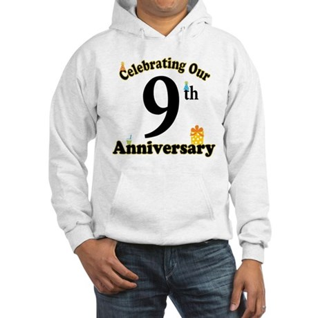 9th Anniversary Party Gift Hooded Sweatshirt