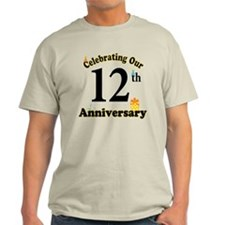 12th Anniversary Party Gift T-Shirt