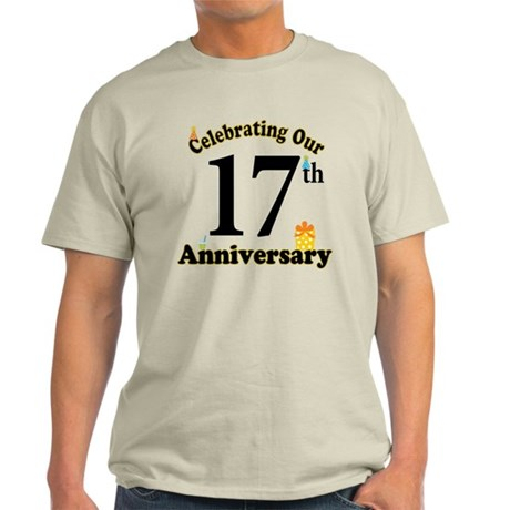 17th Anniversary Party Gift Light T-Shirt