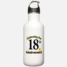18th Anniversary Party Gift Water Bottle