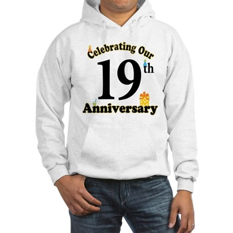 19th Anniversary Party Gift Hooded Sweatshirt