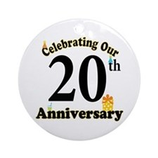 20th Anniversary Party Gift Ornament (Round)