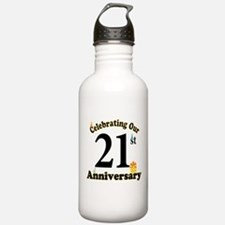 21st Anniversary Party Gift Water Bottle