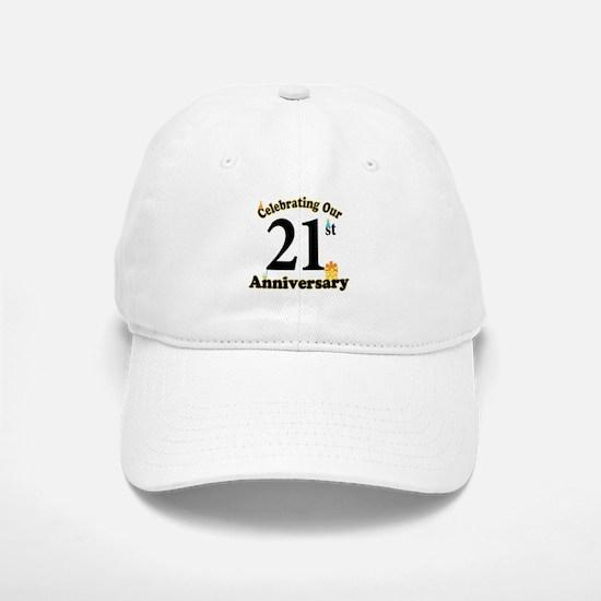 21st Anniversary Party Gift Baseball Baseball Cap