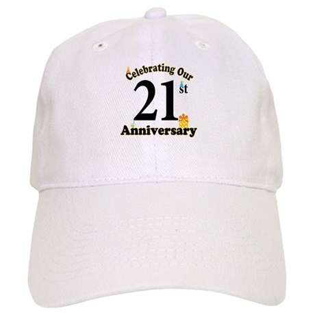21st Anniversary Party Gift Cap
