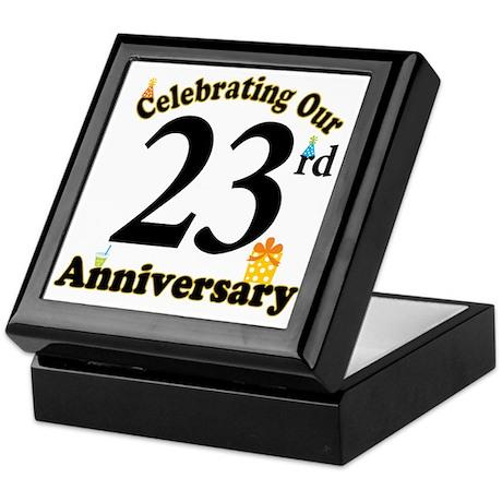 23rd Anniversary Party Gift Keepsake Box