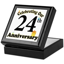 24th Anniversary Party Gift Keepsake Box