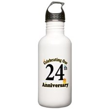 24th Anniversary Party Gift Water Bottle