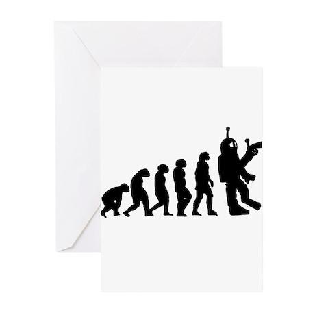 Killer Robot evolution Greeting Cards (Pk of 20)