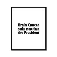 Brain Cancer Framed Panel Print