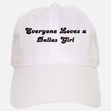 Loves Dallas Girl Baseball Baseball Cap