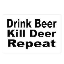 Drink Beer, Kill Deer Postcards (Package of 8)