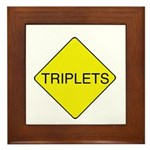 Triplets Sign Framed Tile