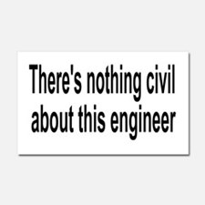 Civil Engineer Car Magnet 20 x 12