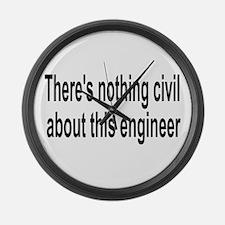 Civil Engineer Large Wall Clock