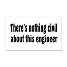 Civil Engineer Car Magnet 20 x 12