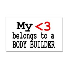 Body Builder Car Magnet 20 x 12
