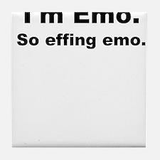 So Effing Emo Tile Coaster