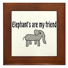 Elephants are my Friends Framed Tile
