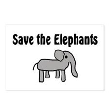 Save the Elephants Postcards (Package of 8)