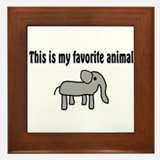 Cute Elephant Framed Tile