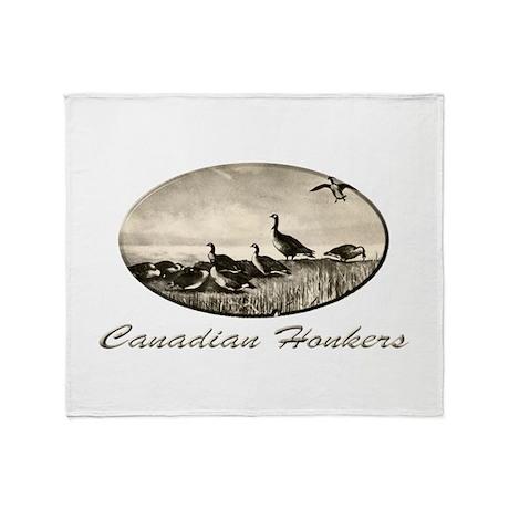 Canadian Honkers Throw Blanket