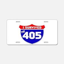 I survived the 405 Aluminum License Plate