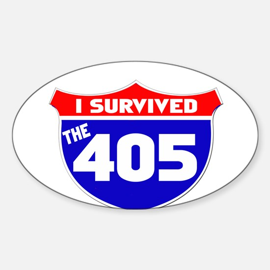 I survived the 405 Sticker (Oval)