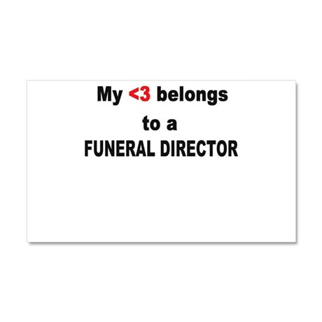 Funeral Director Car Magnet 20 x 12