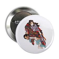 "Japanese Samurai Warrior 2.25"" Button"