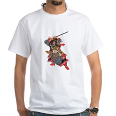 Japanese Samurai Warrior White T-Shirt