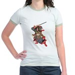 Japanese Samurai Warrior Jr. Ringer T-Shirt