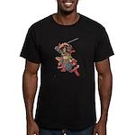 Japanese Samurai Warrior Men's Fitted T-Shirt (dar