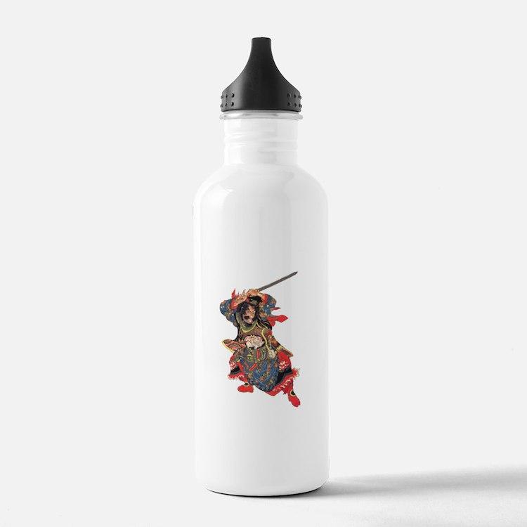 Japanese Samurai Warrior Water Bottle