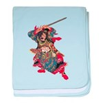 Japanese Samurai Warrior baby blanket