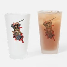 Japanese Samurai Warrior Drinking Glass