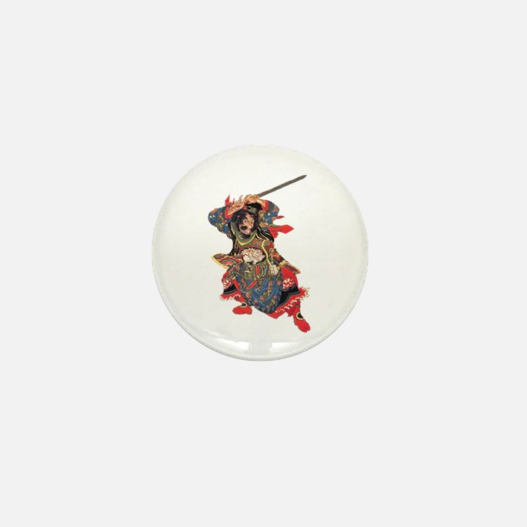 Japanese Samurai Warrior Mini Button