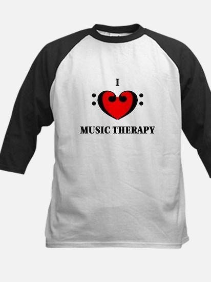 I Luv Music Therapy Kids Baseball Jersey