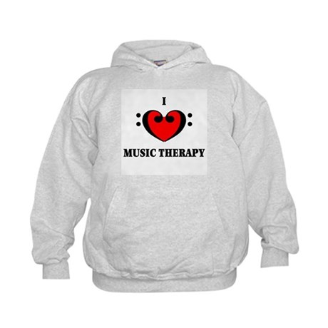 I Luv Music Therapy Kids Hoodie