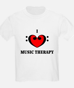 I Luv Music Therapy Kids T-Shirt