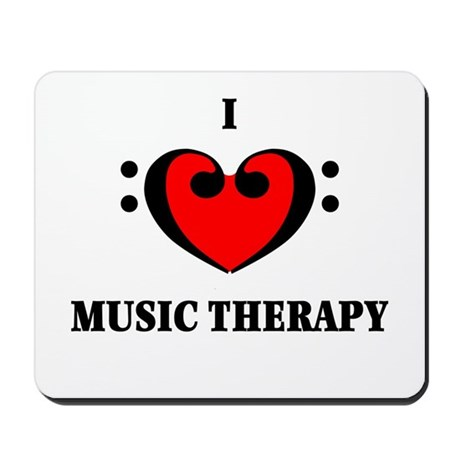 I Luv Music Therapy Mousepad