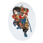 Japanese Samurai Warrior Ornament (Oval)