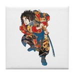 Japanese Samurai Warrior Tile Coaster