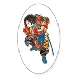 Japanese Samurai Warrior Sticker (Oval)